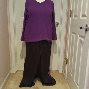 Made for Life Active Pants Black & Purple - Sz 1X